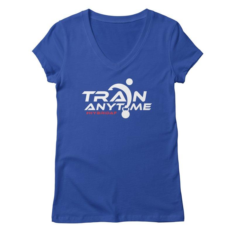 Train Anytime Women's V-Neck by HybridAF Shop