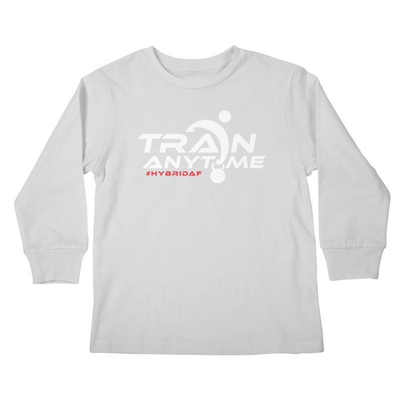 Train Anytime Kids Longsleeve T-Shirt by HybridAF Shop
