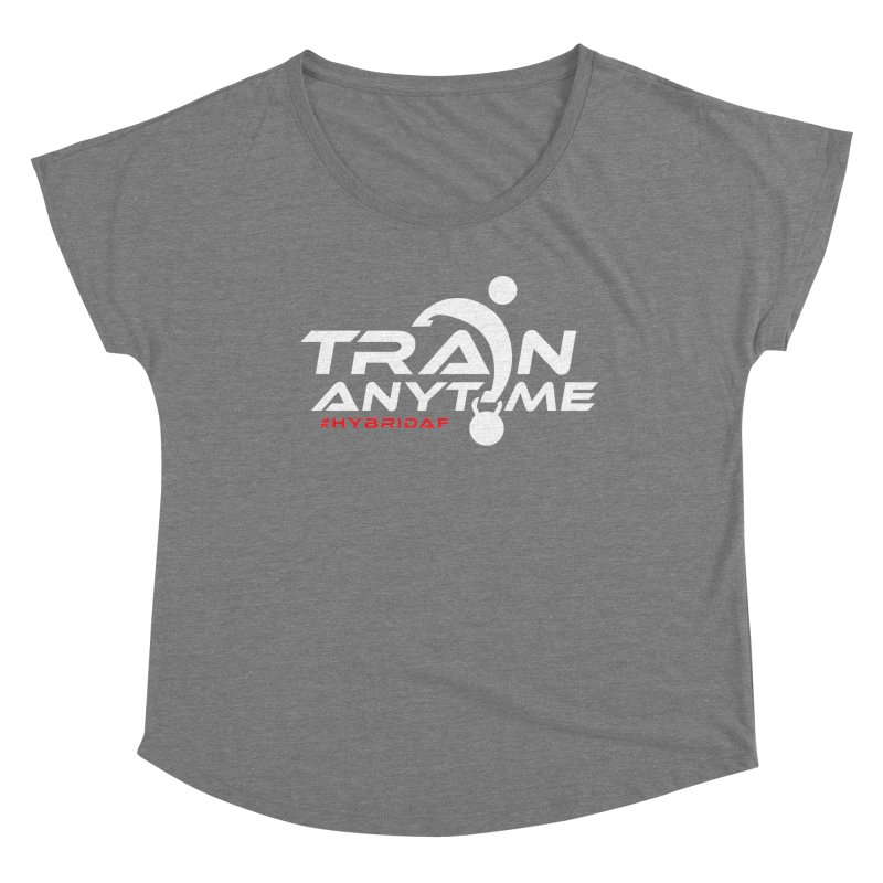 Train Anytime Women's Scoop Neck by HybridAF Shop