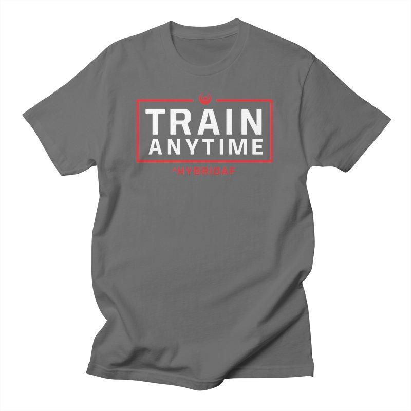Train Anytime V2 Men's T-Shirt by HybridAF Shop