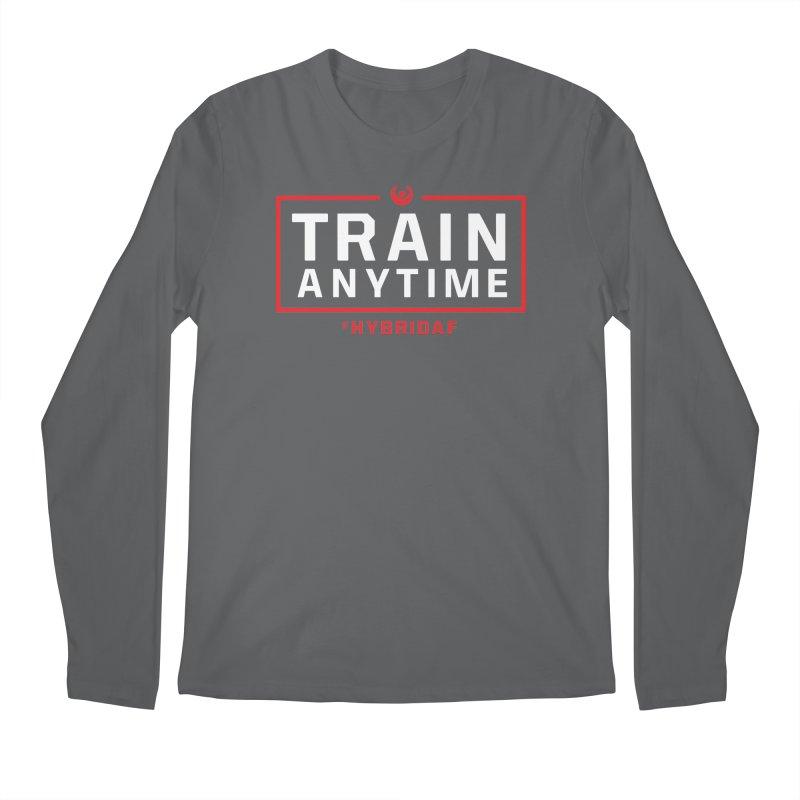 Train Anytime V2 Men's Longsleeve T-Shirt by HybridAF Shop