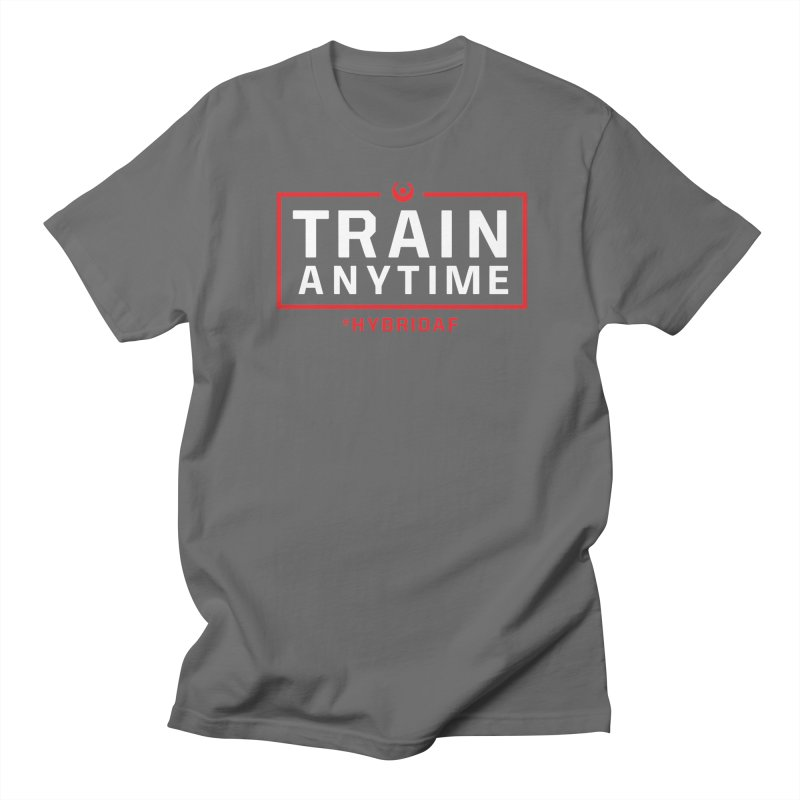 Train Anytime V2 Men's T-Shirt by HybridAF Shop