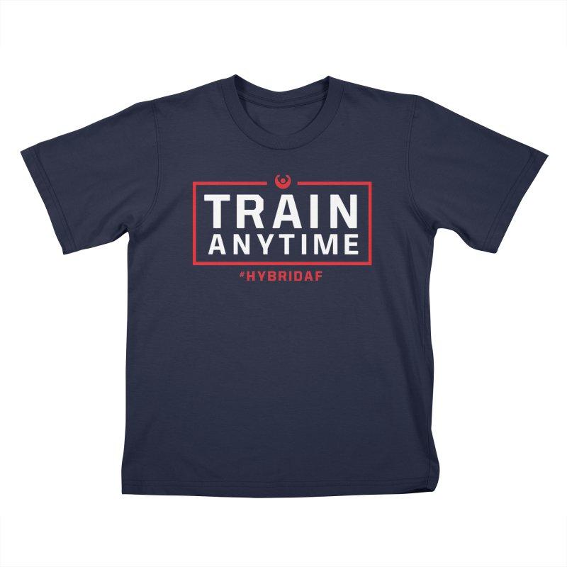 Train Anytime V2 Kids T-Shirt by HybridAF Shop