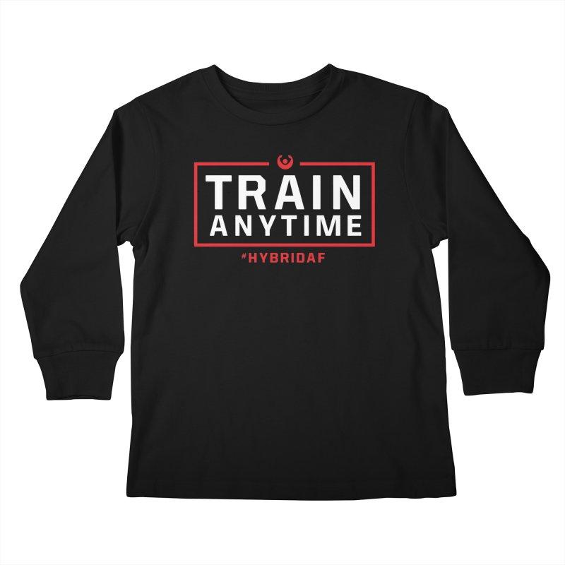 Train Anytime V2 Kids Longsleeve T-Shirt by HybridAF Shop
