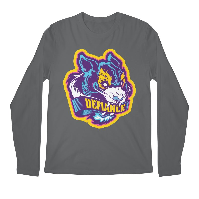 Defiance Tiger Men's Longsleeve T-Shirt by HYDRO74