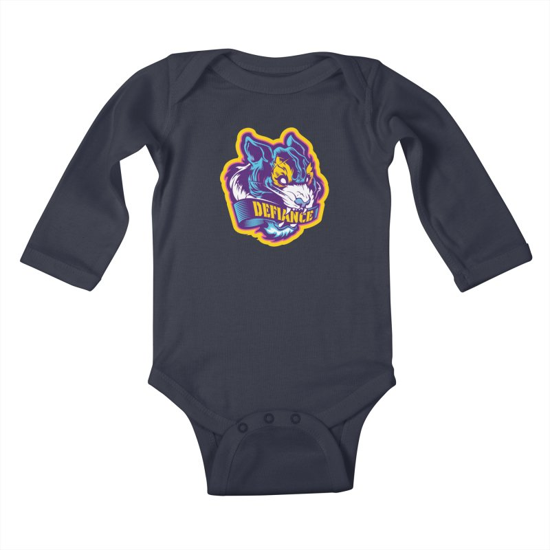 Defiance Tiger Kids Baby Longsleeve Bodysuit by HYDRO74