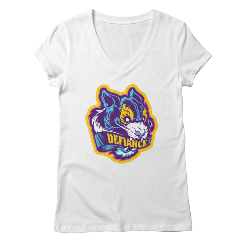 Defiance Tiger Women's V-Neck by HYDRO74