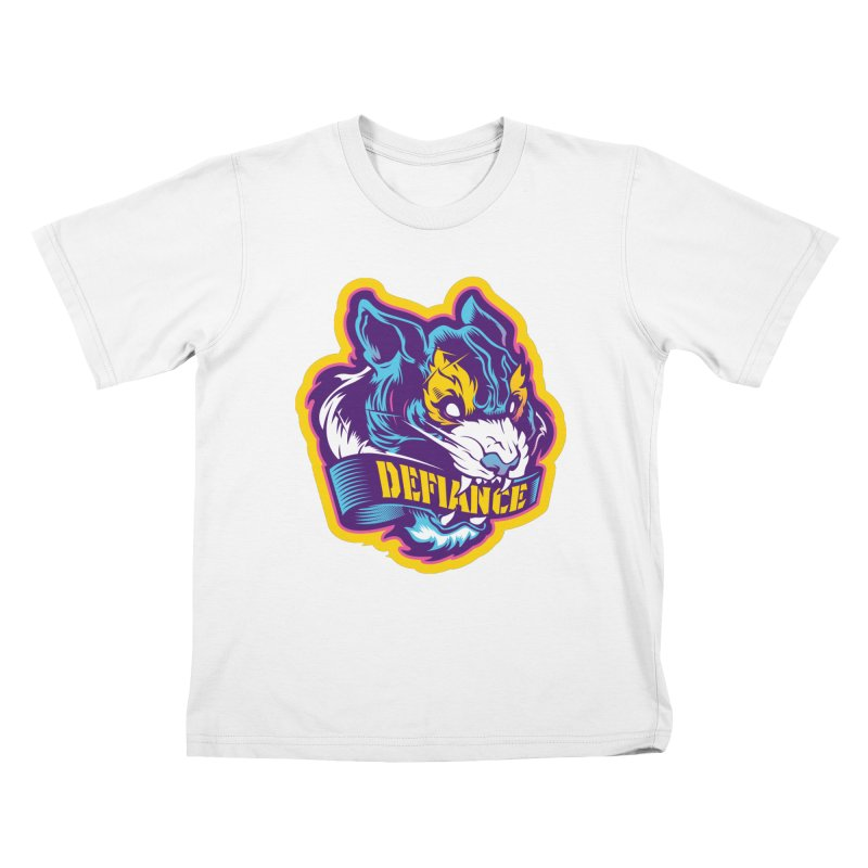 Defiance Tiger Kids T-Shirt by HYDRO74