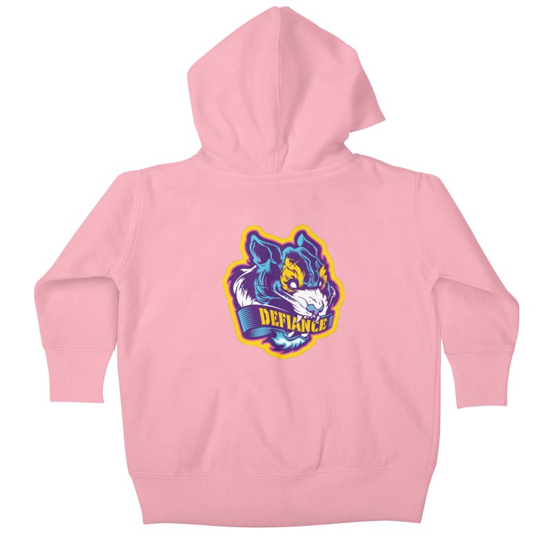 Defiance Tiger Kids Baby Zip-Up Hoody by HYDRO74