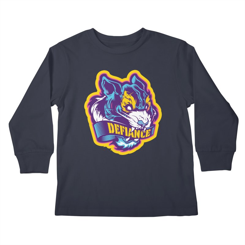 Defiance Tiger Kids Longsleeve T-Shirt by HYDRO74