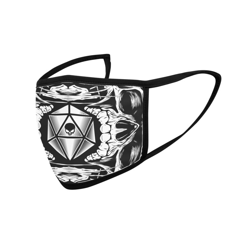 Death Roll Skull Accessories Face Mask by HYDRO74