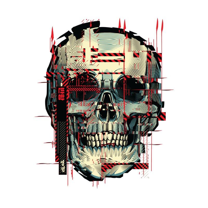 Glitch Skull Accessories Phone Case by HYDRO74