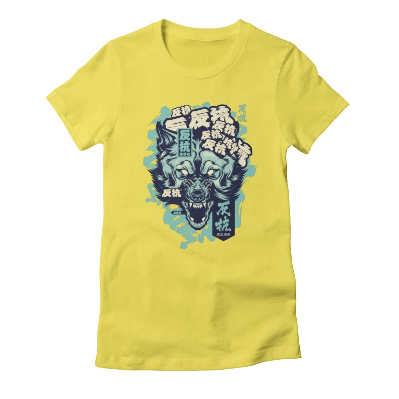 Defiance Wolf Women's T-Shirt by HYDRO74