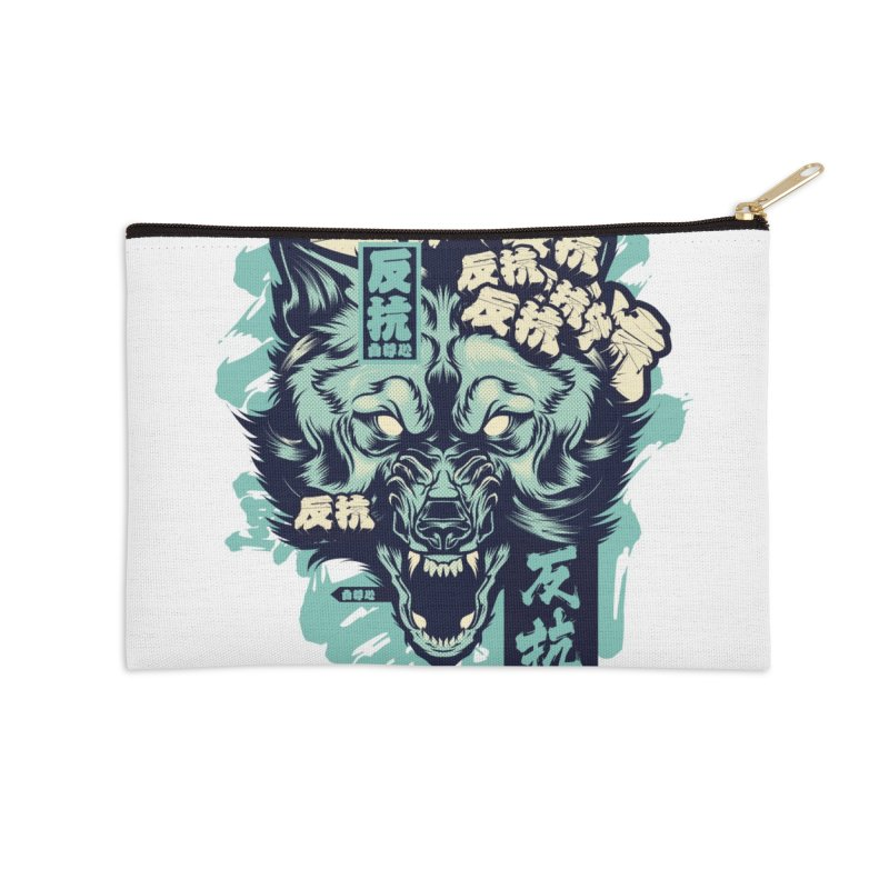 Defiance Wolf Accessories Zip Pouch by HYDRO74