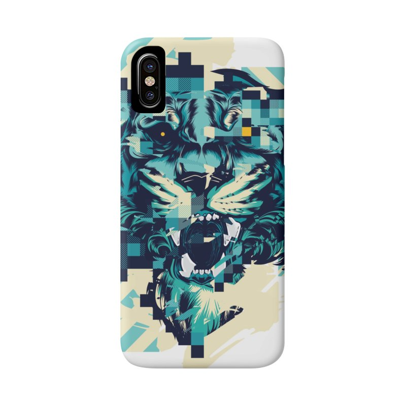 Glitch Tiger Accessories Phone Case by HYDRO74