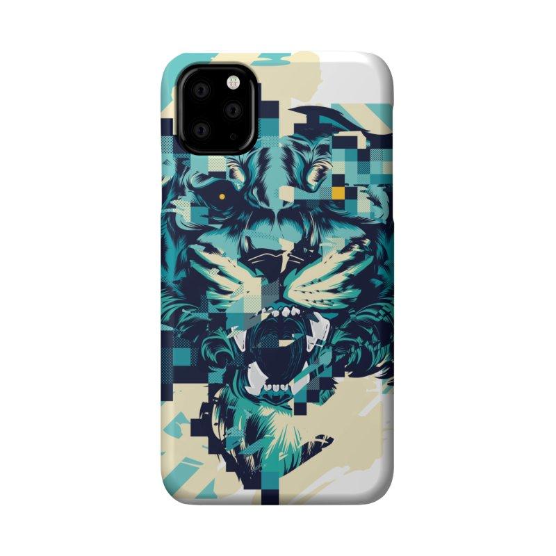 Glitch Tiger Accessories Phone Case by HYDRO74
