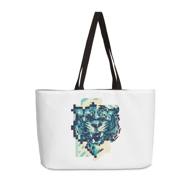 Glitch Tiger Accessories Weekender Bag Bag by HYDRO74