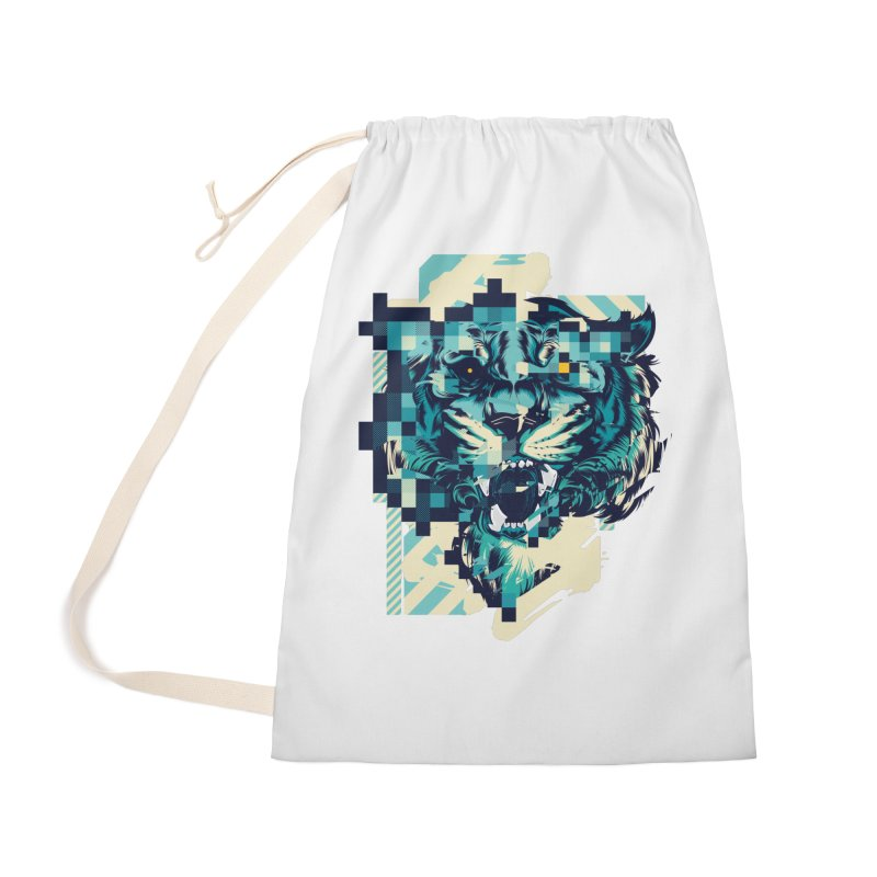 Glitch Tiger Accessories Bag by HYDRO74
