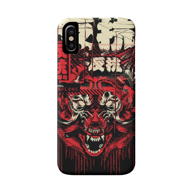 Glitch Wolf Accessories Phone Case by HYDRO74