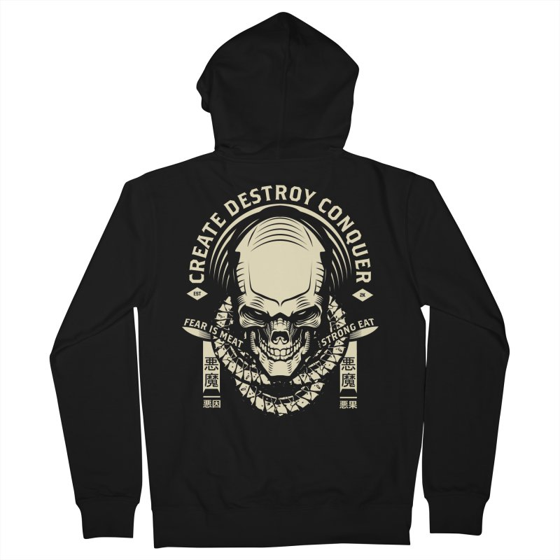 Destroy Men's French Terry Zip-Up Hoody by HYDRO74