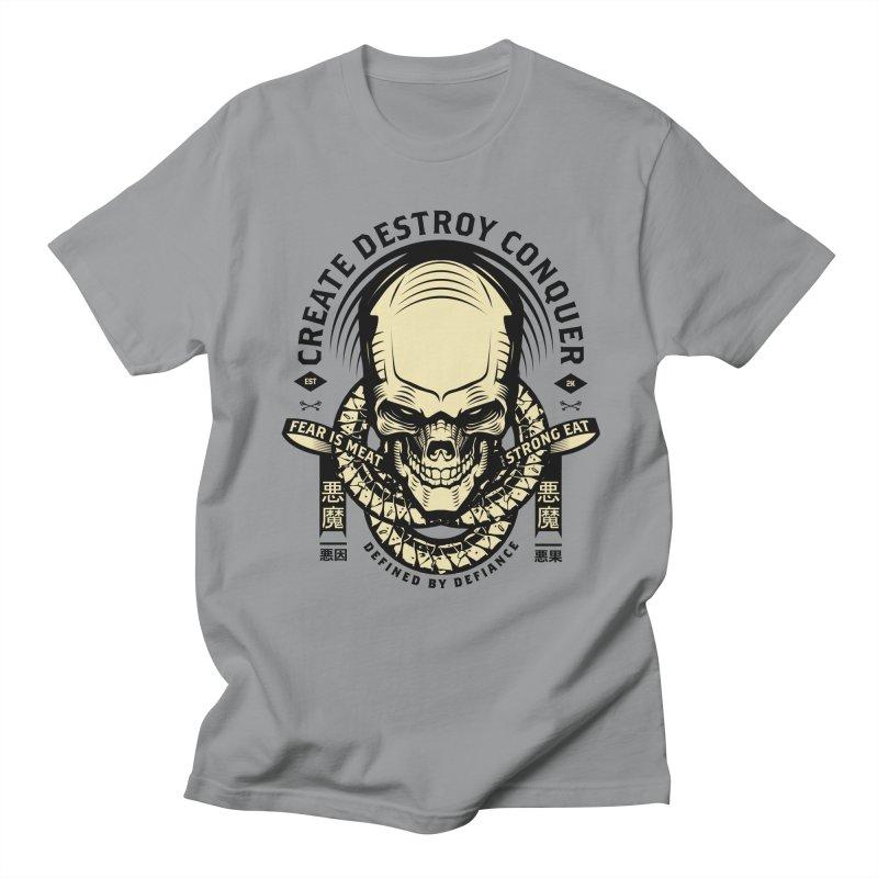 Destroy v2 in Men's Regular T-Shirt Slate by HYDRO74