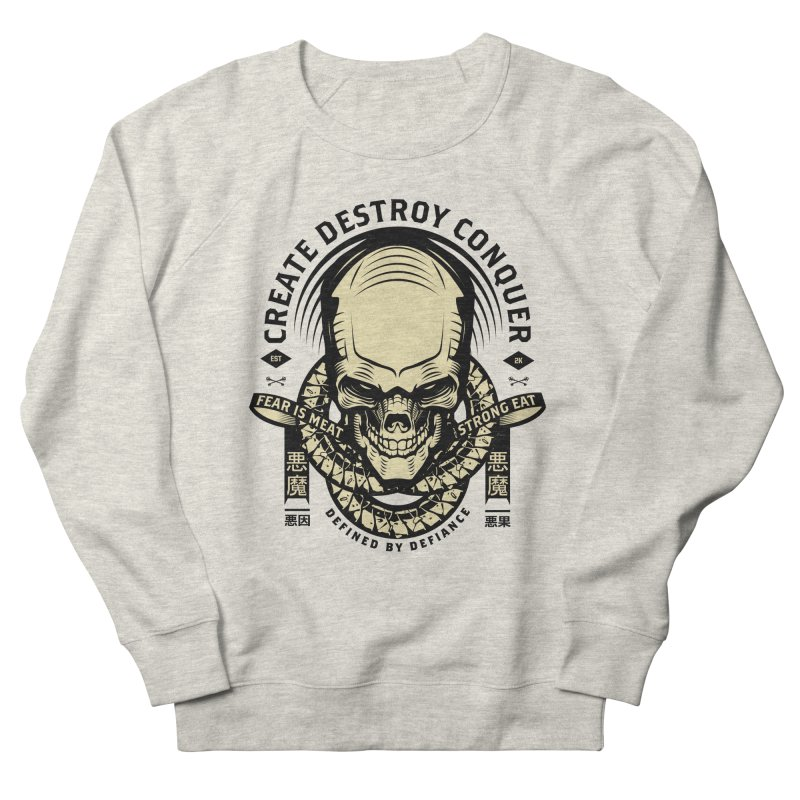 Destroy v2 Men's French Terry Sweatshirt by HYDRO74