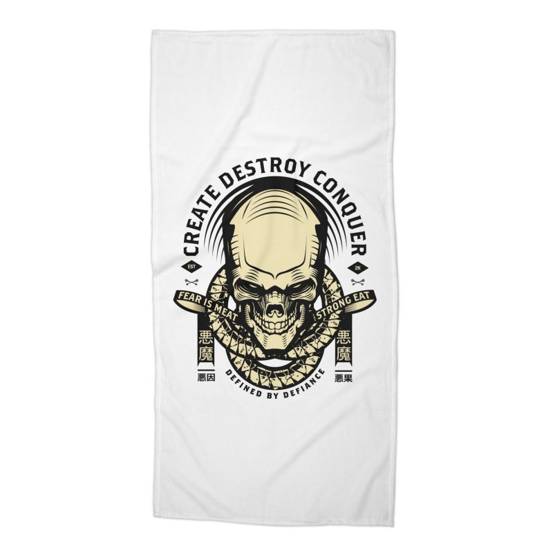 Destroy v2 Accessories Beach Towel by HYDRO74
