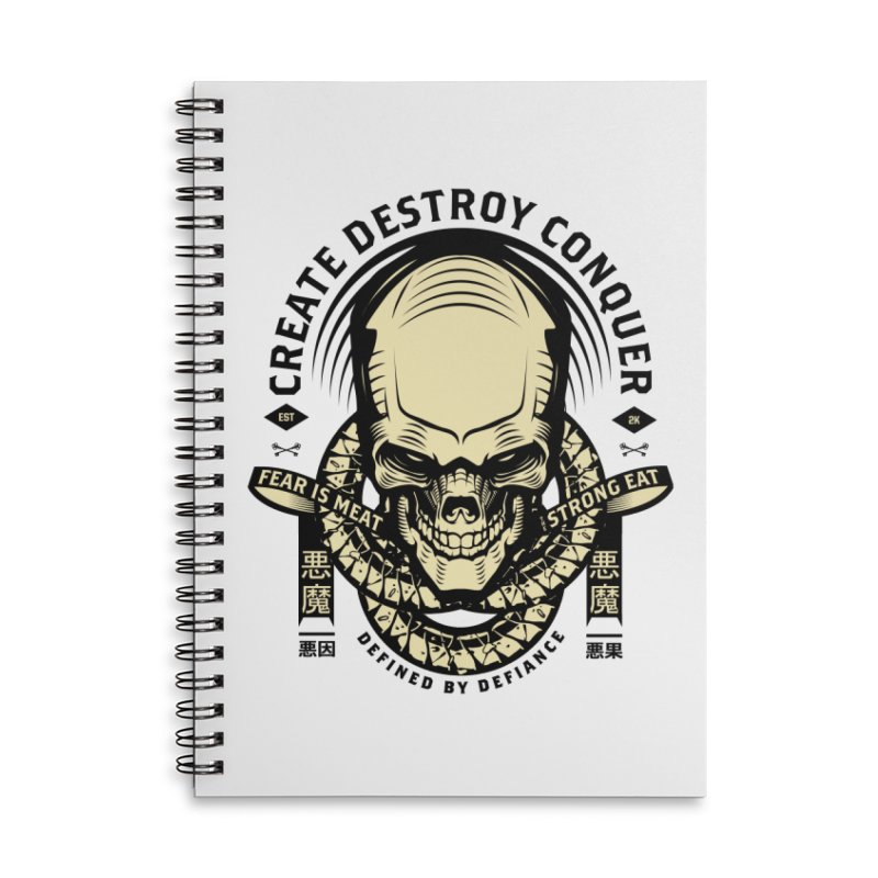 Destroy v2 Accessories Lined Spiral Notebook by HYDRO74
