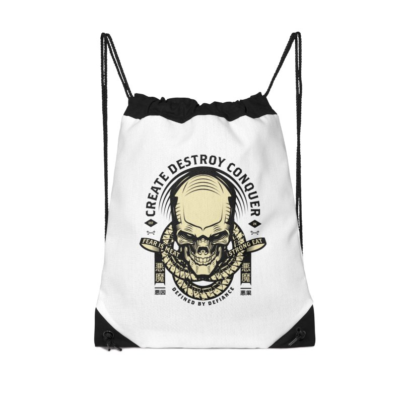 Destroy v2 Accessories Drawstring Bag Bag by HYDRO74
