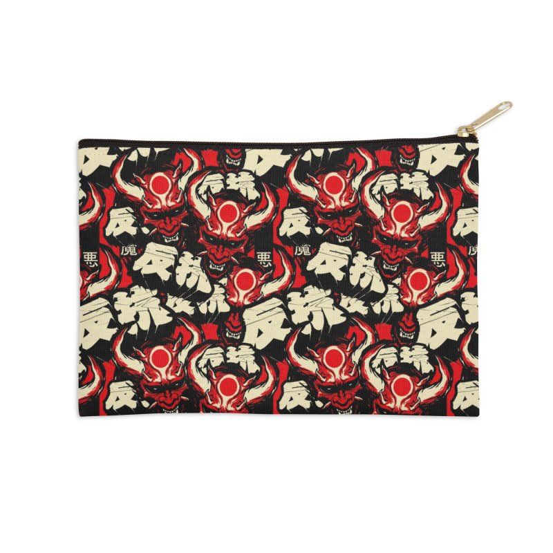 Demon Pattern Accessories Zip Pouch by HYDRO74