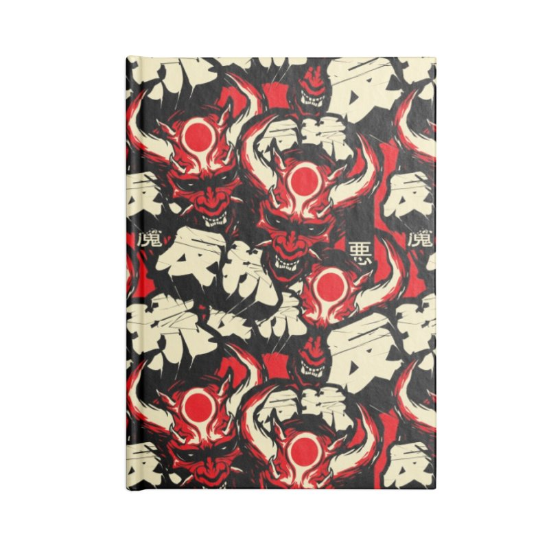 Demon Pattern Accessories Lined Journal Notebook by HYDRO74