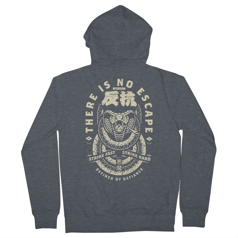 Strike Hard. Men's French Terry Zip-Up Hoody by HYDRO74