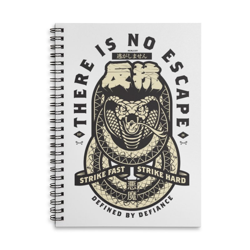 Strike Hard Accessories Lined Spiral Notebook by HYDRO74