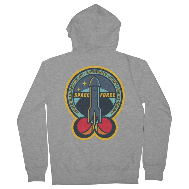 SPACE FORCE Men's French Terry Zip-Up Hoody by HYDRO74