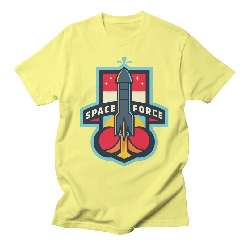 SPACE FORCE II in Men's Regular T-Shirt Lemon by HYDRO74