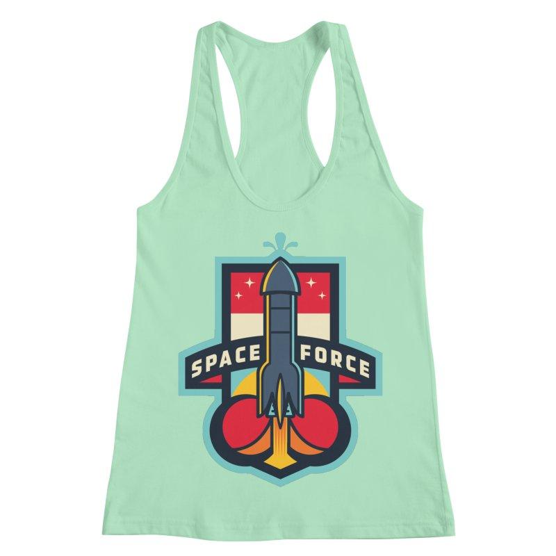 SPACE FORCE II Women's Racerback Tank by HYDRO74