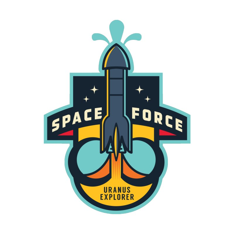 SPACE FORCE III Home Stretched Canvas by HYDRO74