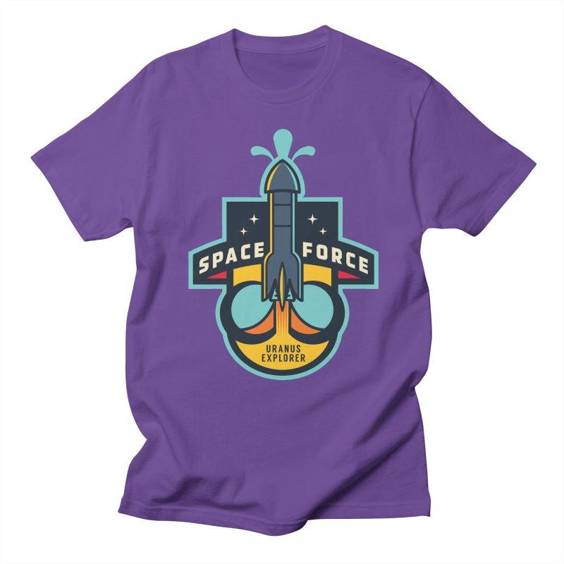 SPACE FORCE III in Men's Regular T-Shirt Purple by HYDRO74