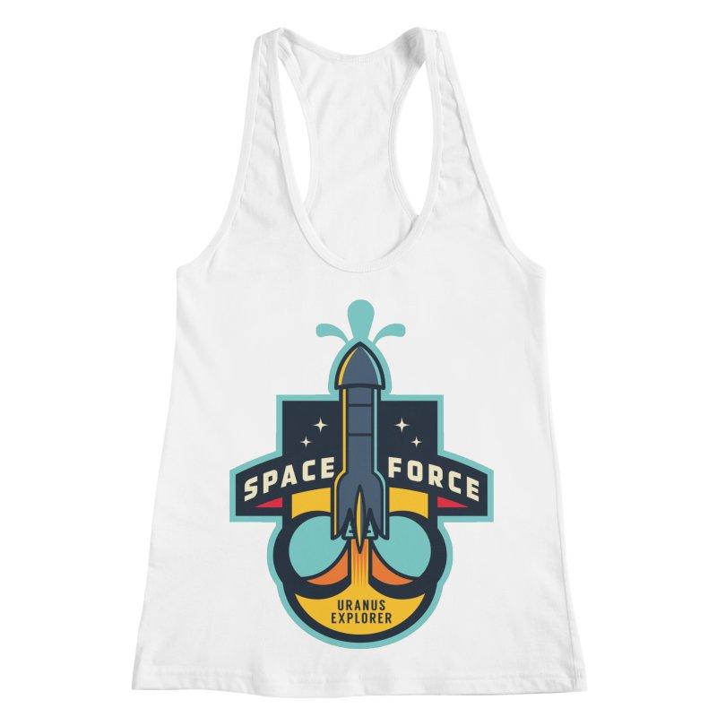 SPACE FORCE III Women's Racerback Tank by HYDRO74