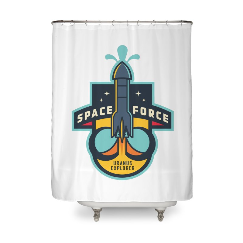SPACE FORCE III Home Shower Curtain by HYDRO74