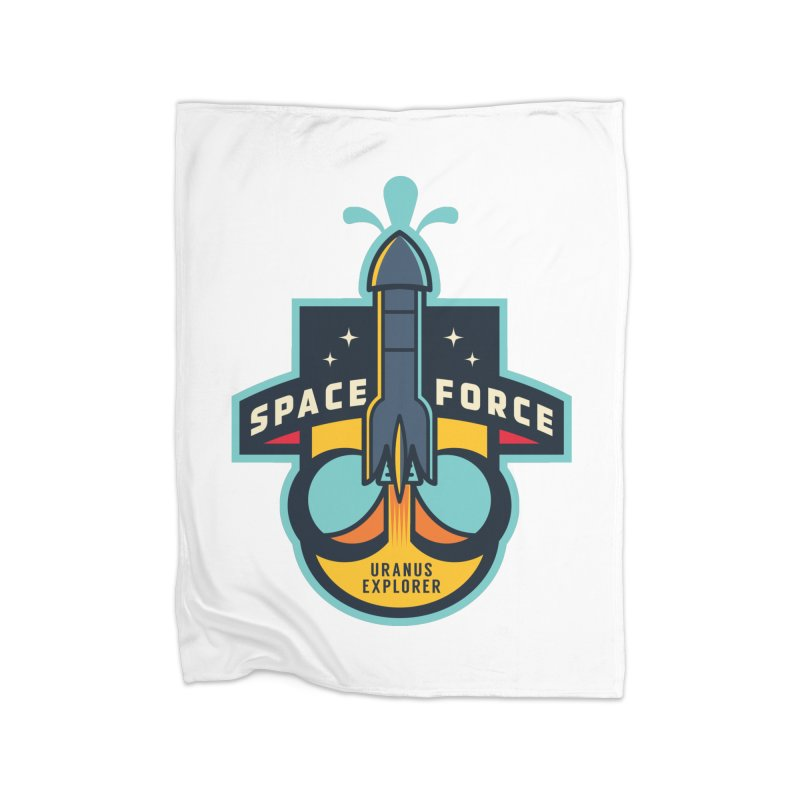 SPACE FORCE III Home Fleece Blanket Blanket by HYDRO74