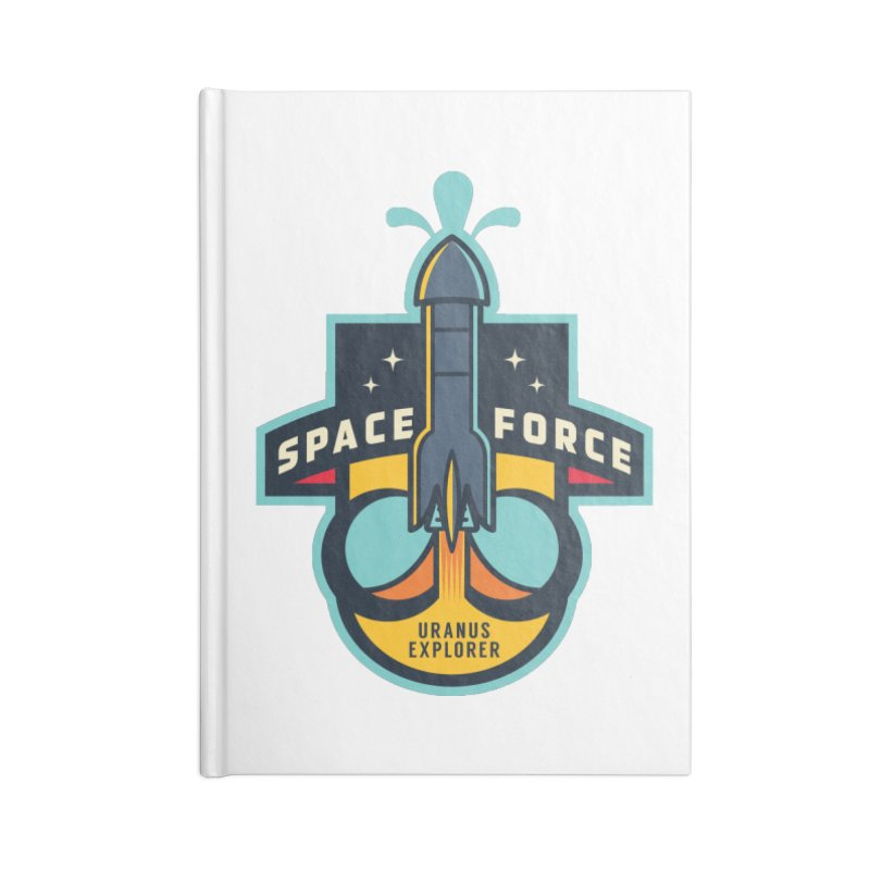 SPACE FORCE III Accessories Blank Journal Notebook by HYDRO74