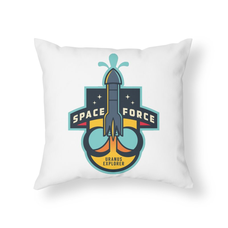 SPACE FORCE III Home Throw Pillow by HYDRO74