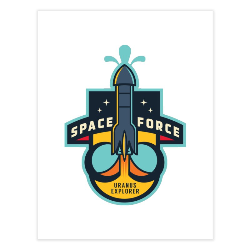 SPACE FORCE III Home Fine Art Print by HYDRO74
