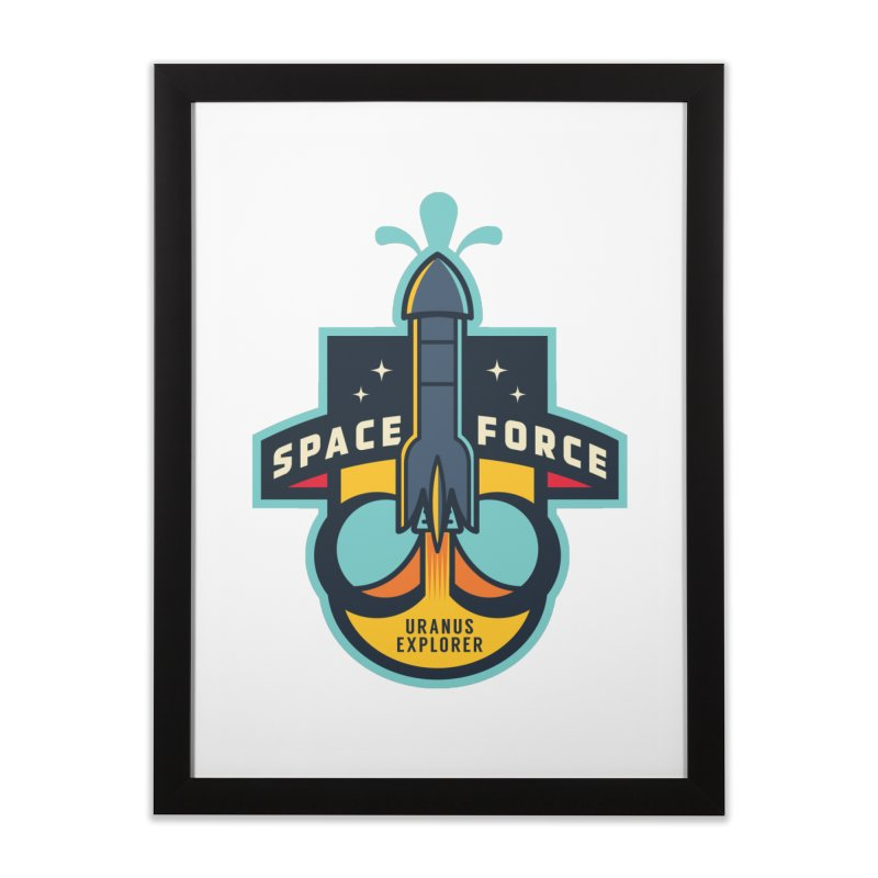 SPACE FORCE III Home Framed Fine Art Print by HYDRO74