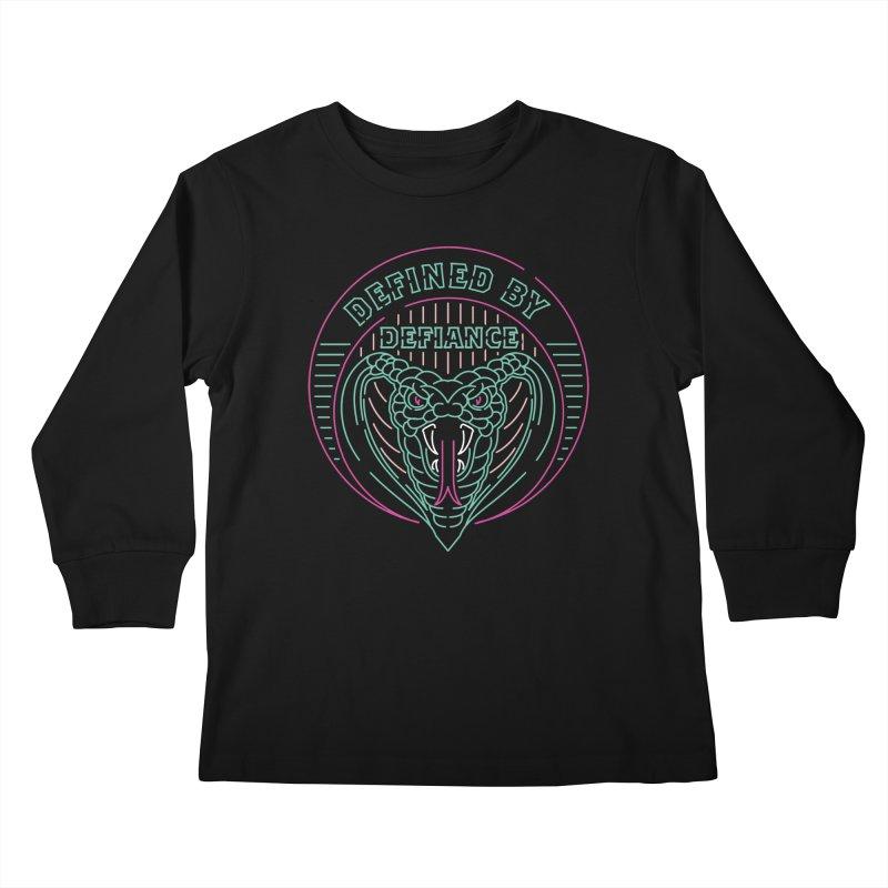 Defiance Neon Kids Longsleeve T-Shirt by HYDRO74