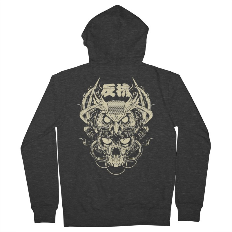 Owl Men's French Terry Zip-Up Hoody by HYDRO74
