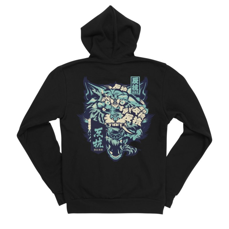 Defiance Anger Women's Sponge Fleece Zip-Up Hoody by HYDRO74
