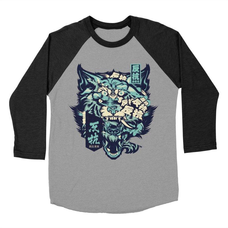 Defiance Anger Men's Baseball Triblend Longsleeve T-Shirt by HYDRO74