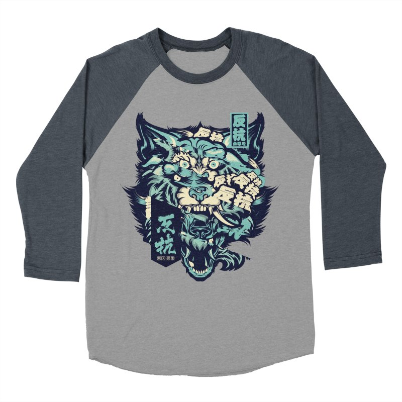 Defiance Anger Men's Baseball Triblend Longsleeve T-Shirt by HYDRO74